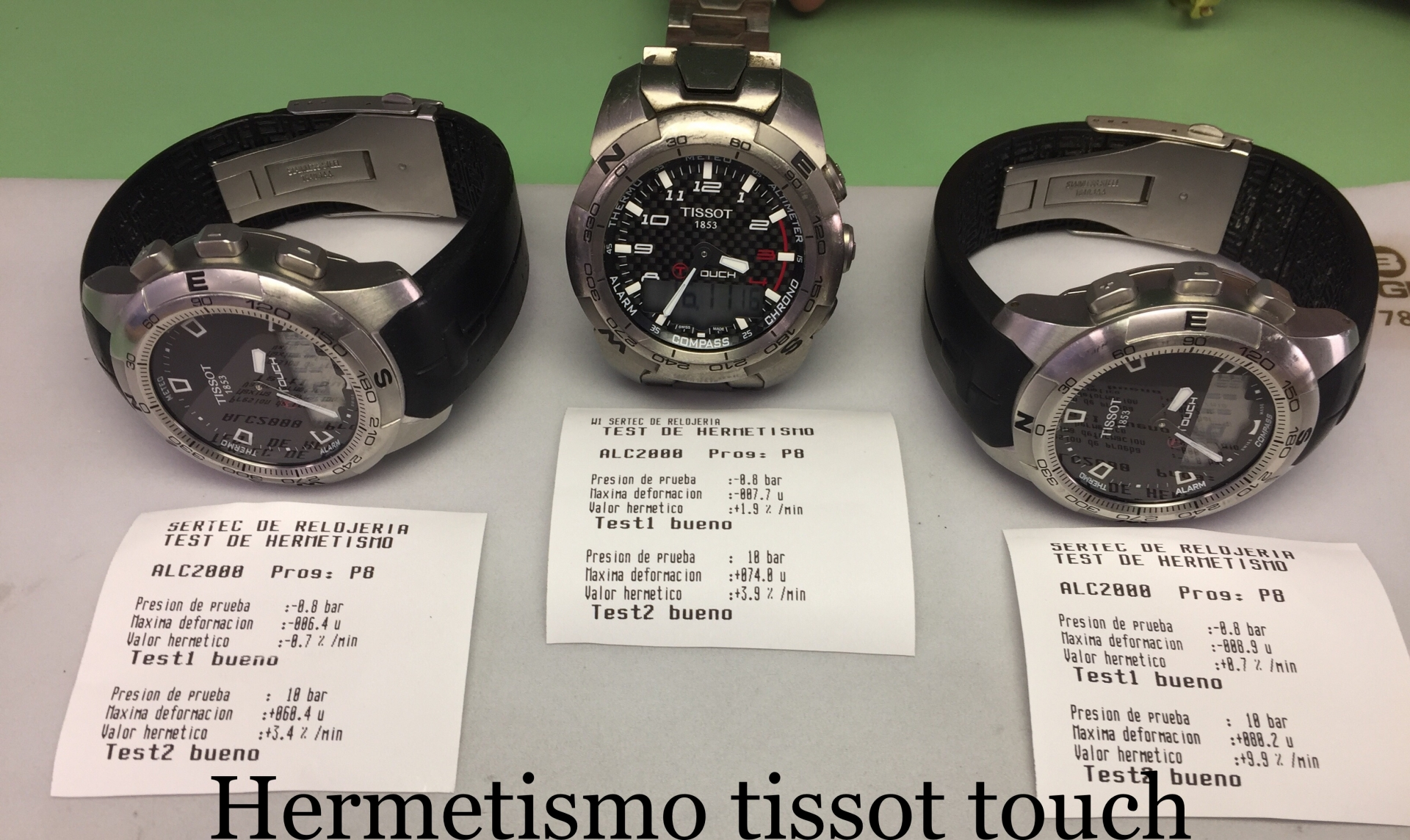 Hermetismo tissot touch